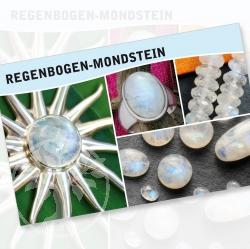 Regenbogen Mondstein Mineral Stone Description Cards