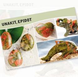 Unakit Mineral Stone Description Cards