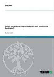 Buch:  Runen - Ideographie, magisches Symbol oder phonetischer B