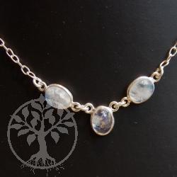 Mondstein Silbercollier Silber925 mit Mondsteinperlen