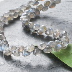 Labradorite faceted Drop Necklace