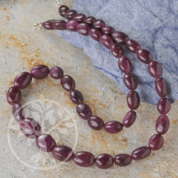 Ruby Oval Gemstone Necklace