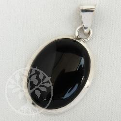 Onyx Silberanhaenger