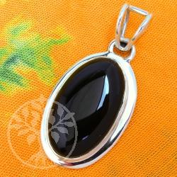 Onyx Silberanhaenger Silber
