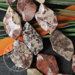 Blumen Jaspis Perlen Freeform Steinperlen ca. 40cm