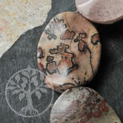 Blumenjaspis Perlen Wave Steinperlen mit gewelltem Schliff ca. 40mm/40cm lang