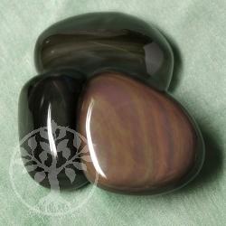 Obsidian Regenbogen Handsteine 3 Stueck