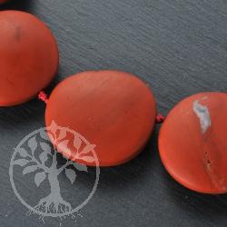Roter Jaspis Flache Schmuckperle