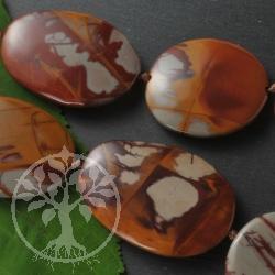 Noreena Jaspis Perlenkette flach gross