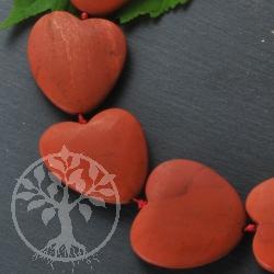 Roter Jaspis Halskette matte Herzen