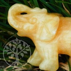 Orangen Calcit Elefant