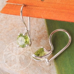 Peridot Silber Ohrringe