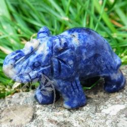 Sodalith Elefant Figur