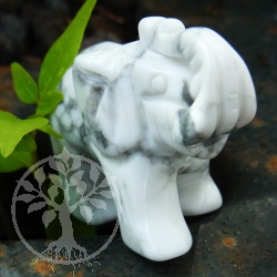 Magnesite Gemstone Elephant Figure