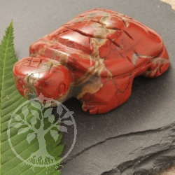 Red Jasper Turtle Figure