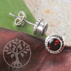 garnet earrings silver sun edelsteine grosshandel. Black Bedroom Furniture Sets. Home Design Ideas