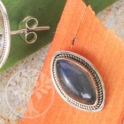 Labradorite Silver Earrings India