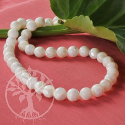 Perlmutt Kugelperlen weiss 10mm Perlen