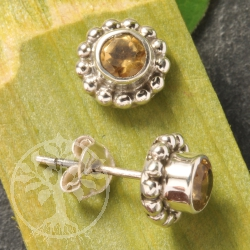 Citrine Earrings Silver Sun Sterlingsilver Earstuds