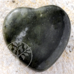 Moss agate BIG heart