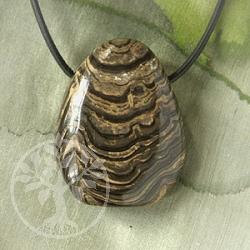 Stromatolit Anhänger Lochstein 20/30mm