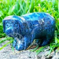 Blauquarz Schwein Gluecksschwein Tierfigur 50mm