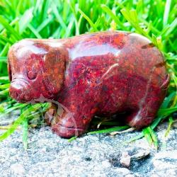 Brekzien Jaspis Schwein Steindeko Schweinchen 50mm