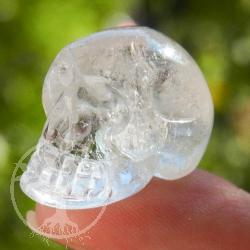 Totenkopf Kristallschädel Bergkristall Mini