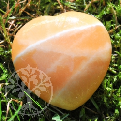 Calcite Orange Heart
