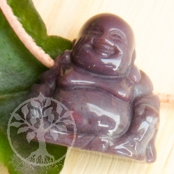 Moos Agate Buddha pendant gemstone figure
