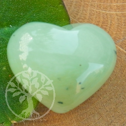 China Jade heart figure flatterer