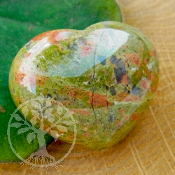 Unakite Heart figure flatterer 30mm