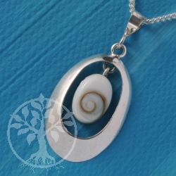 Silber Shiva Anhaenger Oval