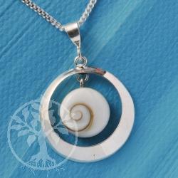 Shiva Pendant Silver Round