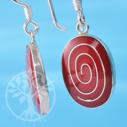Coral Silverspiral Earring