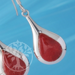 Coral Drop Earring Silver