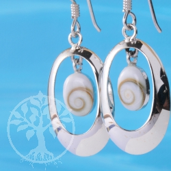 Silber Shiva Ohrhaenger Oval