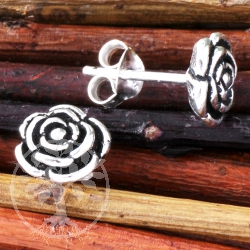 Ohrstecker Rose klein Silber 925