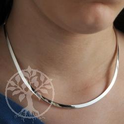Silver Loop neklace 6 mm  11x12cm