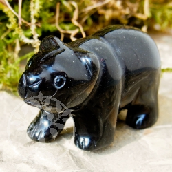 Onyx Gemstone Bear Animal Representation