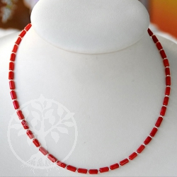 Coral Tube Necklace Penelopee
