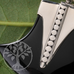 Silver Pendant Black Stone big