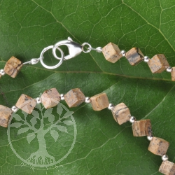 Picture Jasper Necklace Silver