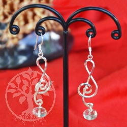Prasiolite Silver Earrings Sinfonia