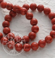 Gemstone-Beads, Coral, bead 12 mm