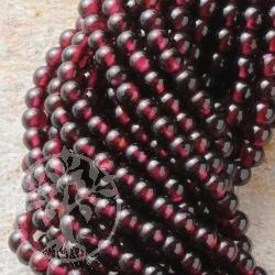 Granat Perlen Kugel 4mm Basic A