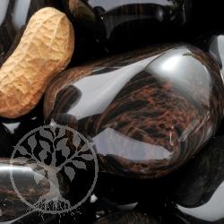 Rot-Gold-Obsidian Trommelstein XXL