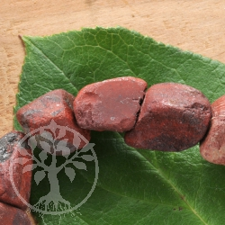 Roter Jaspis Rohstein Perlen