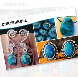 Chrysocolla Mineral Stone Description Cards