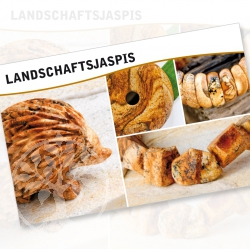 Landscape Jasper Mineral Stone Description Cards
